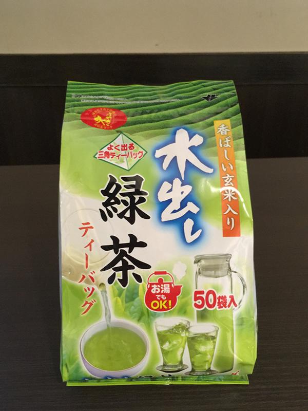 水出し緑茶ティーバッグ玄米入り